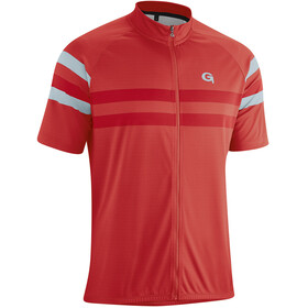 Gonso Samuel Fietsshirt Korte Mouwen Doorlopende Rits Heren, high risk red